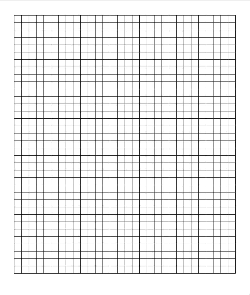 プログラムの実行結果の図です。意図した通りに正方形が並んでいることがわかります。